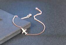 Bracelet Femme Fin Réglable Motif Avion Plaqué Or Rose - Bijoux des Lys