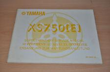 YAMAHA XS 750(E) Werkstatthandbuch Service Manual Ergänzung