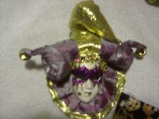 Maschera Veneziana Masquerade Carnival Piastra a parete viola e oro