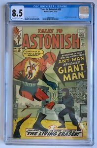 Tales to Astonish #49 CGC 8.5 - 1st Ant-man becomes Giant-man Marvel 1963 Comics