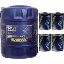 20l MANNOL 2-Clock Universal API TC OLIO MOTO MOTORE LAVAGGIO MOTORE Flush