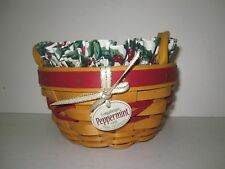 Longaberger 1999 Tree Trimming Peppermint Red Basket Combo Christmas Holiday Nib