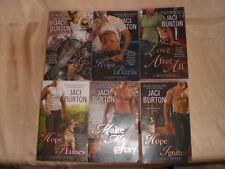 Lot of 6 Jaci Burton Hope Series Books 1-6 Hope Flames, Burns Ignites Love After