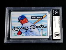 MICKEY MANTLE (BAS) BECKETT SIGNED 1951 BOWMAN ROOKIE PORCELAIN CARD AUTO