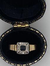 18ct Sapphire Diamond Cluster Ring