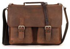 LEONHARD HEYDEN Bolsa Para Cadáveres Cruz Salisbury Briefcase S Brown