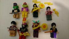 8 The Beatles Lego / K'Nex Yellow Submarine + Sgt. Pepper minifigs