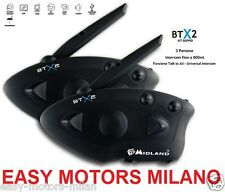 DOBLE INTERCOMUNICADOR INTERPHONE MIDLAND BTX2 BTX 2 BT X2 GEMELO X