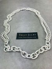 UK Ladies Designer Chunky chain Matt Silver Design Necklace Jewellery Gift