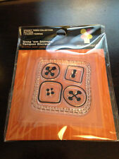 """Imaginisce """"Buttons"""" Clear Stamp!!! Spooky Town"""