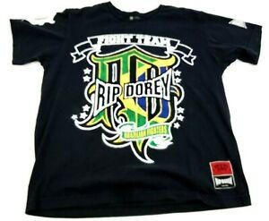 RIP Dorey Brazilian MMA Fight Team Fight Wear 100% Cotton T-shirt Mens Sz Large