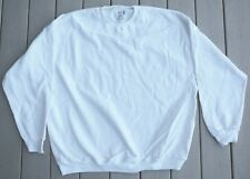 White Fruit of the Loom cotton polyester blend sweatshirts long sleeve heavy NEW