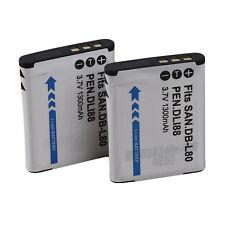 1300mAh Camera Rechargeable Li-ion Battery for Sanyo DB-L80-S/D-LI88 Tasteful