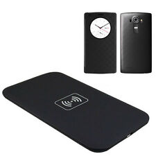 Qi Wireless Charger Charging Pad Quick Circle Leather Skin Case Cover for LG G4