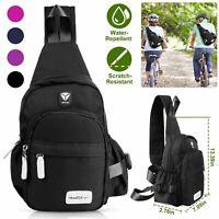 Men Women Nylon Sling Bag Backpack Cross body Shoulder Chest Cycle Daily Travel