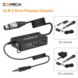 Comica LINKFLEX AD1 Microphone Preamp Adapter XLR to 3.5mm Audio Adapter Univers