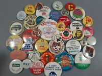 vintage job lot badges collectable pins retro advertising x 40