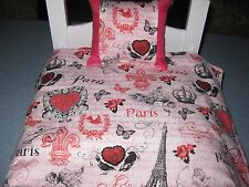 2 Piece Cute American Girl Inspired Paris 18 Inch Doll Bedding Pillow