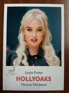 JORGIE PORTER *Theresa McQueen* HOLLYOAKS PRE-SIGNED AUTOGRAPH CAST CARD