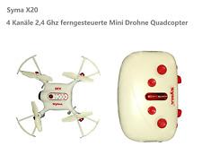 Syma Mini-Drohne X20 2.4G 4CH 6-aixs Gyro Gravity Sensor Pocket Drone Weiß