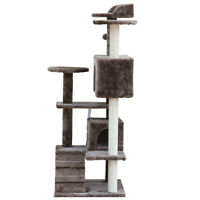 "Cat Tree Furniture Kitten House Play Tower Scratcher 51"" Coffee Condo Post Bed"