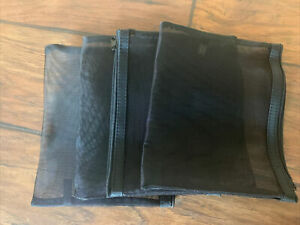"Four 8.5"" X 7"" Black Cosmetic Zipper Mesh Makeup Pouch Storage Bag Travel"