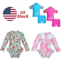 US Baby Girls Boys Sun Protective Swimwear Rash Guard Costume Surfing Swimsuit