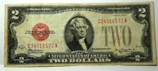 1928 D $2 Dollar Red Seal Circulated Note