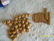 31 PIECE LOT 1 INCH ~  WOODEN  Beads ~ Macrame ~ JEWELRY ~ CRAFTS ~