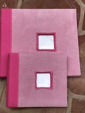 Set Of 2 Scrapbook Albums top load - Pink w/ window 8.5� X9.5� & Lg. 14� X 14�
