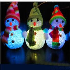 Eva Muñeco De Nieve Reno Santa Claus Luces De La Noche Colorido Luz LED