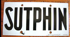 Vintage New York Subway Sutphin Blvd. Queens Train Station Porcelain Sign IND
