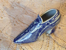 Blue White Shoe Planter Vase The a Canton Collection by Twos Company.