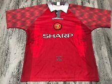 A Vintage Original Umbro Manchester United 1996 Futbol Soccer Jersey Shirt XL