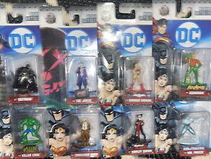Jada DC Nano Metalfigs Lot x 8 Batman Joker Aquaman Harley Quinn Mr Freeze Croc