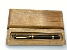 Waterman MAN 100 WOOD Fountain Pen 18K Broad nib Minty in wood box