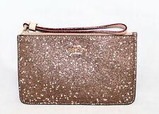 COACH F22705 Gold Glitter & Silver Stars Corner Zip Wristlet Purse