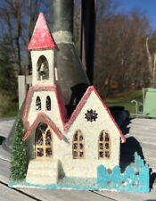 "Cody Foster Christmas/ Winter Church with Bell 8.5"" Tall RETIRED"