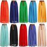 Women Loose BOHO Gypsy Chiffon Long Full Skirt Maxi Beach Dress Colorful *Lng