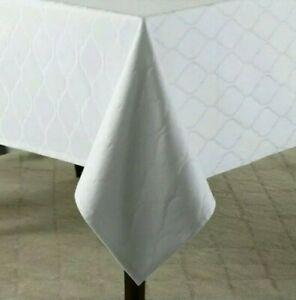 Wamsutta Milano Tablecloth 52 X 70 White Restaurant Quality Stain Resistant