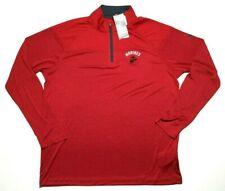 Under Armour Marines Semper Fi Men Xl Long Sleeve Quarter Zip Pullover Shirt Red