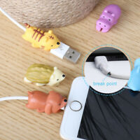 6 x Cartoon Animal Cable Bite Cute Phone Charger Protector Soft Cord Accessories