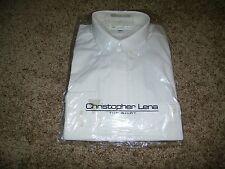 Christopher Lena The Shirt Men Long Sleeve White Dress Shirt NWT Size 15.5 34-35