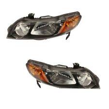 Headlight Assemblies Kit TYC Fits: Honda Civic 2006 - 2008 Sedan