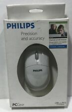 PCGEAR PHILIPS OPTICAL SCROLL MOUSE - PA1034 NIB USB/PS2