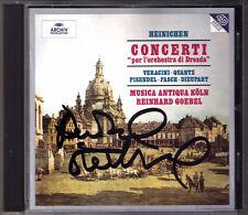 Reinhard GOEBEL Signed CONCERTI DRESDA Musica Antiqua Köln CD Dieupart Heinichen