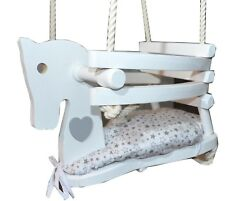 NEW WOODEN HORSE SAFETY SWING, CE certificate, play , baby swing, colours, great