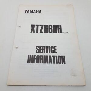 Yamaha Motorbike XTZ660H Factory Service Information 1st ed October 1995