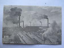 SOUTH AUSTRALIAN RAILWAYS POSTCARD B H P Coys SMELTING WORKS Pt PIRIE c1907 SAR