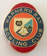 Warners Bay Bowling Club Badge Pin Vintage Lawn Bowls (L28)